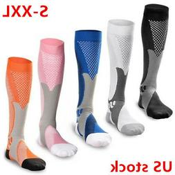 1-2pairs Compression Socks Sports Men Women Calf Shin Leg Ru