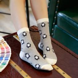 1 Pair Fashion Cartoon Penguin Animal Women Cotton Soft <fon