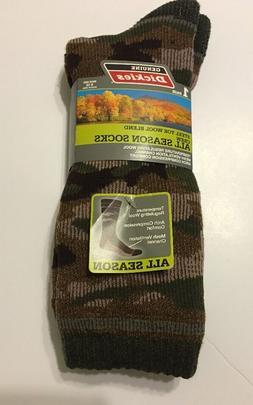 1-Pair Dickies Men Crew Socks Shoe Size 6-12 Steel Toe Wool