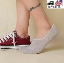 10 Pack Women Ankle Invisible No Show Nonslip Loafer Boat Li