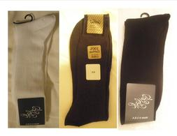 100% Cotton Ribbed Dress Socks 3 - 6 Pairs Made in USA Free