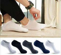 10Pair Mens Cotton Sport Short Soild Ankle Socks Casual Low