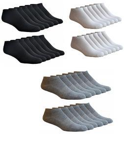 12 Men's Athletic Low-Cut Socks Micro Terry Cushion Sole Arc