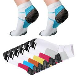 12pcs Compression Socks Plantar Fasciitis Arch Ankle Running