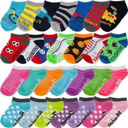 Planet Sox 14 Pairs Toddler Socks Toddler No Show Socks w/ D