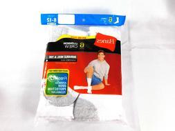 Hanes 184-6 Mens Cushion Crew Socks 6-Pack Size 13 - 10 - Wh
