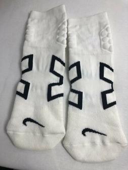 1pair Men's Nike Elite Vapor Cushioned Performance Socks-Whi