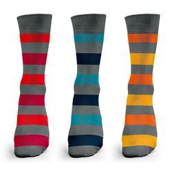3 Pairs Mens Bamboo Dress Casual Socks Variety Packs Shoe Si