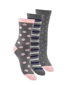 1SOCK2SOCK Women Bamboo Dress Socks Pink Gray Casual Crew Me