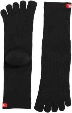Injinji 2.0 Men's Sport Crew Toesocks, Black, Large