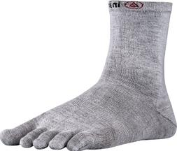 Injinji 2.0 Men's Liner Crew Toesocks, Gray, Medium