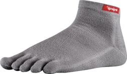 Injinji 2.0 Men's Sport Mini Crew Toesocks, Gray, Small