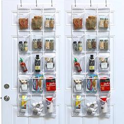 2 Pack - SimpleHouseware Crystal Clear Over The Door Hanging