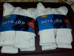 ,2- Gold Toe Men's Multi Cotton Crew 656s Athletic Sock 6 Pa