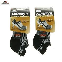 Thorlos Experia No Show Padded Socks Black/White Small ~ NE