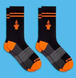 2-Pack Calf BOMBAS Men's Socks Size Medium 7-11 Black/Oran