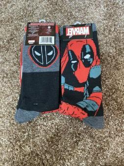 2 Packs - Marvel DEADPOOL Men's Crew Socks