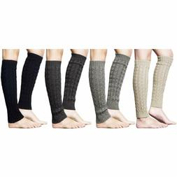 Loritta 2 Pairs / 4 Pairs Women Knit Leg Warmers Winter Long