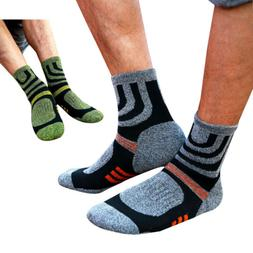 2 Pairs Men Socks Anti Blister Hiking Walking Running Climbi
