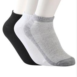 10/20 Pair Summer Men Ankle Socks Low Cut Crew Casual Sport