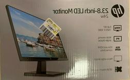 """HP 23.8"""" 24w HDMI VGA 1080p Widescreen LED IPS LCD Monitor"""