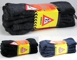 3,12 Pairs Mens Super Warm Heavy Thermal Merino Wool Winter