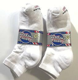 3/ 6/12  Pair HANES Men's White Cotton Stretch Athletic Ankl