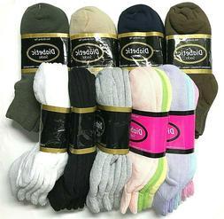3 /6 /12 / Pair Non-Binding Top DIABETIC Colors Ankle Sock S