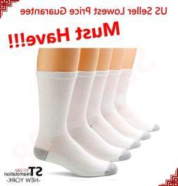 3,6,12 Pairs CREW Mens Solid Sports Socks Cotton 9-11 10-13