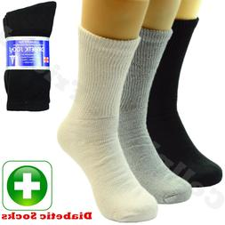 3 6 12 Pairs Lot For Men's Circulatory Diabetic Crew Socks S