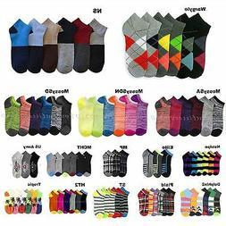 3 6 12 Pairs Lot Men's Women's Design Socks Low Cut Fashion