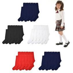 3, 6 ,12 Pairs Lot Women Girl  Knee High School Uniform Sock