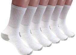 3 6 12 Pairs Mens White Sports Work Athletic Crew Socks Cott