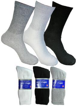 3-6 Pairs Diabetic Crew Circulatory Socks Health Mens Cotton