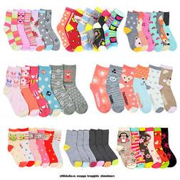 3 Pair Girls Toddler Socks Size 4-6 Mixed Assorted Design Co