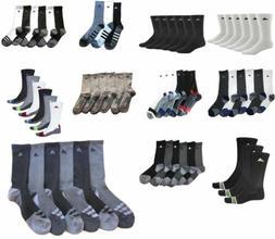 3 or 6 Pair Mens Adidas Crew Socks Climalite Originals Trefo