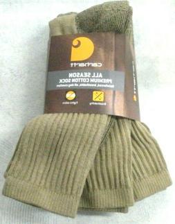 Carhartt 3 Pack All Season Cotton Crew Socks, Carhartt A62 S