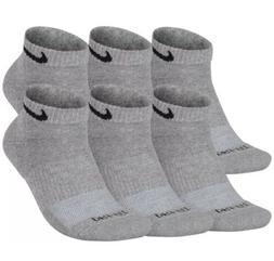 New Nike Tech Dri Fit Low Cut Socks Men's Sz 8-12 Grey/bla