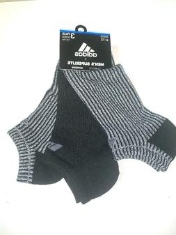 3-Pack Adidas Men's No Show Superlite Compression Socks Cush