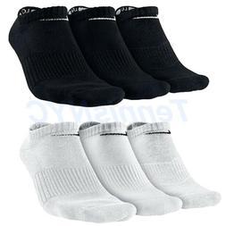NIKE 3 Pack No Show Cushioned Tennis Socks Running Golf Unis