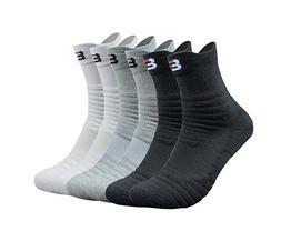 3 Packs Men's Cotton Sports Athletic Compression Socks Mid-C