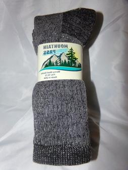3 Pair 10-13 Mountain Pass 72% Merino Wool Boot Sock 100% US