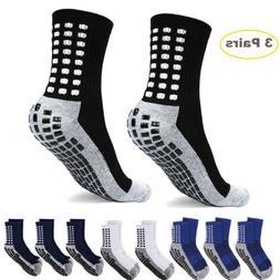 3 Pairs Anti Slip Non Skid Slipper Hospital Socks with grips