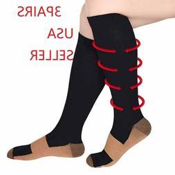 Compression Socks Hg Knee High Copper  Mens / Womens S-XXL