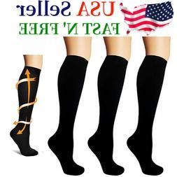 Compression Socks Knee High 15-20mmHg Graduated Support Men