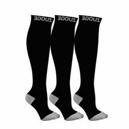 zuoge 3 Pairs Compression Socks Pack - Medical, Nursing, Tra