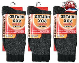 3 Pairs Men's Thermal Socks Heated Sox Insulated Winter Valu
