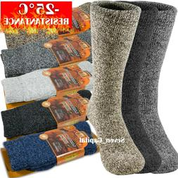 3 Pairs Mens Winter Heavy Duty Warm Thermal Merino Lambs Woo