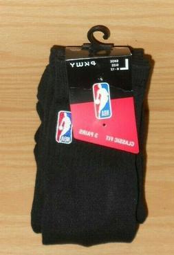 3 PAIRS NEW PKWY Black NBA Logo Man Size L Large 6-12 Quarte