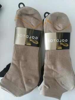 3 Pairs of Gold Toe Mens High Performance Ankle Socks Assort
